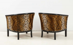 Pair of French Chairs with Leopard Fabric - 1539026