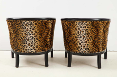 Pair of French Chairs with Leopard Fabric - 1539027
