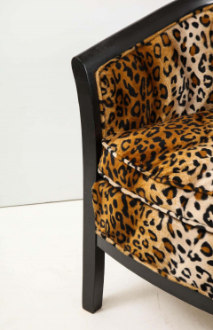 Pair of French Chairs with Leopard Fabric - 1539028