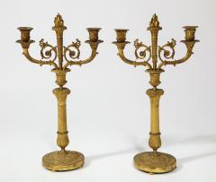 Pair of French Empire Bronze 2 Arm Candelabra - 1749469