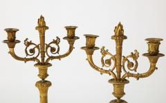 Pair of French Empire Bronze 2 Arm Candelabra - 1749473