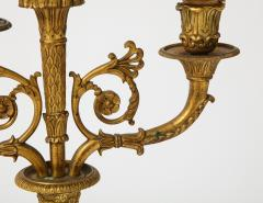 Pair of French Empire Bronze 2 Arm Candelabra - 1749474