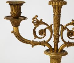 Pair of French Empire Bronze 2 Arm Candelabra - 1749475