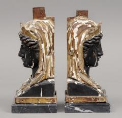 Pair of French Empire Head Bookends - 261717