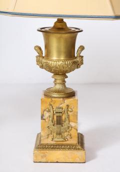 Pair of French Empire Style Bronze Urn Lamps - 1927553