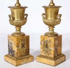 Pair of French Empire Style Bronze Urn Lamps - 1927554