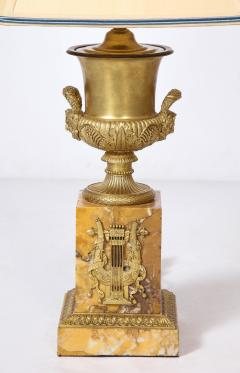 Pair of French Empire Style Bronze Urn Lamps - 1927555