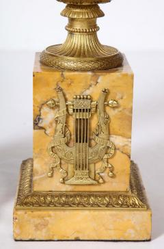 Pair of French Empire Style Bronze Urn Lamps - 1927557