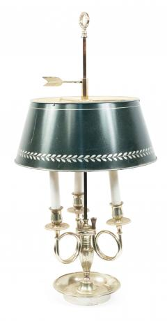 Pair of French Empire Style Silver Plate Table Lamps - 1381438