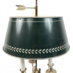 Pair of French Empire Style Silver Plate Table Lamps - 1381442