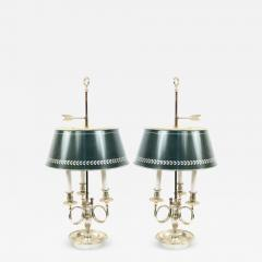 Pair of French Empire Style Silver Plate Table Lamps - 1394882