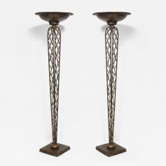 Pair of French Gilt Iron Torchieres - 1970972