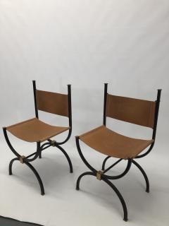 Pair of French Iron side chairs  - 1230822