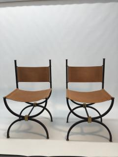 Pair of French Iron side chairs  - 1230823