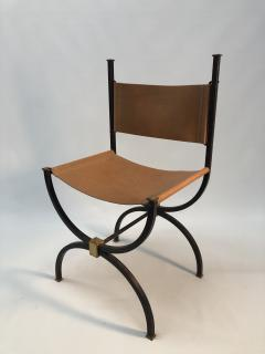 Pair of French Iron side chairs  - 1230825