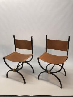 Pair of French Iron side chairs  - 1230826