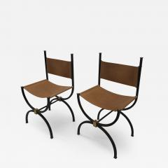Pair of French Iron side chairs  - 1231959