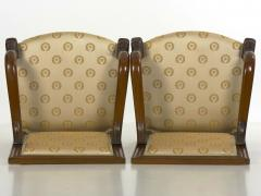 Pair of French Louis Phillipe Napoleonic Carved Mahogany Arm Chairs ca 1840 - 1091478