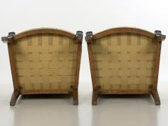 Pair of French Louis Phillipe Napoleonic Carved Mahogany Arm Chairs ca 1840 - 1091479
