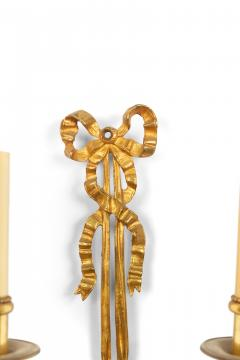 Pair of French Louis XVI Style Bronze Dore Wall Sconces - 1398459