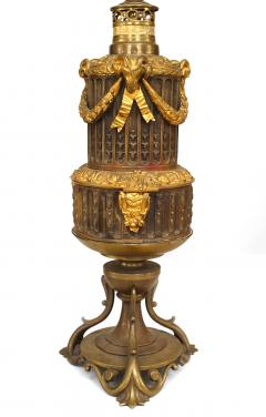 Pair of French Louis XVI Style Bronze Ram Table Lamps - 1381476