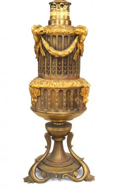 Pair of French Louis XVI Style Bronze Ram Table Lamps - 1381477