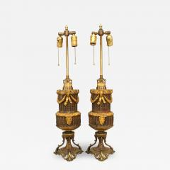 Pair of French Louis XVI Style Bronze Ram Table Lamps - 1394892