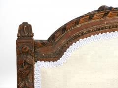Pair of French Louis XVI Style Carved Walnut Antique Accent Side Chairs - 1125115