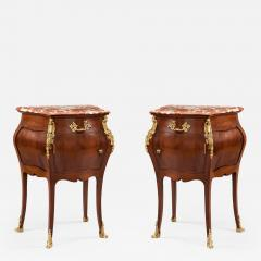 Pair of French Mahogany Gilt and Marble Topped Side Cabinets 19th Century - 677884