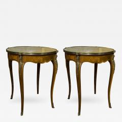 Pair of French Marble Top Gueridons - 356395