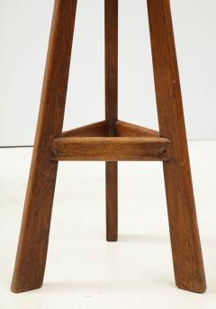 Pair of French Mid Century Stools with Cowhide Seats - 1865470
