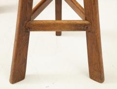 Pair of French Mid Century Stools with Cowhide Seats - 1865472