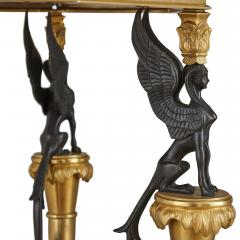 Pair of French Neoclassical Style Malachite and Gilt Bronze Side Tables - 1907387