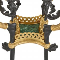 Pair of French Neoclassical Style Malachite and Gilt Bronze Side Tables - 1907388
