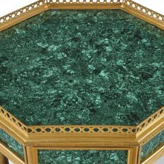 Pair of French Neoclassical Style Malachite and Gilt Bronze Side Tables - 1907394