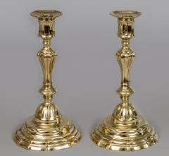 Pair of French Period 18th Century Brass Candlesticks - 510714