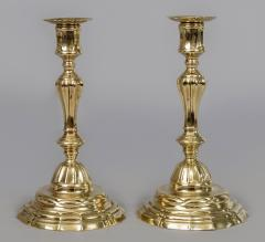 Pair of French Period 18th Century Brass Candlesticks - 510715