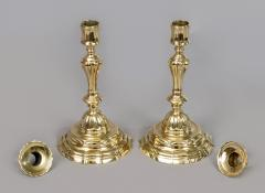 Pair of French Period 18th Century Brass Candlesticks - 510717