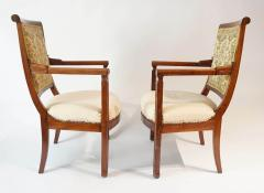 Pair of French Restauration Period Mahogany Fauteuils - 1128519