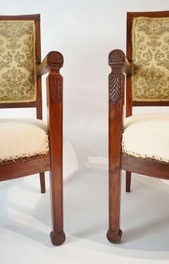 Pair of French Restauration Period Mahogany Fauteuils - 1128520
