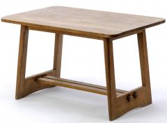 Pair of French fifties oak side table or coffee tables - 1651761