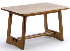 Pair of French fifties oak side table or coffee tables - 1651762