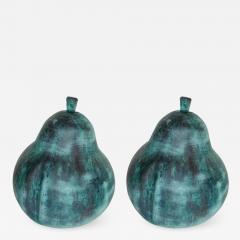 Pair of Garden Pear Design Sculptures - 1009122