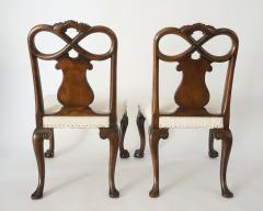 Pair of George II Style Carved Walnut Side Chairs England circa 1880 - 788778