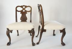 Pair of George II Style Carved Walnut Side Chairs England circa 1880 - 788790