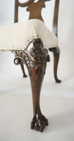 Pair of George II Style Carved Walnut Side Chairs England circa 1880 - 788793