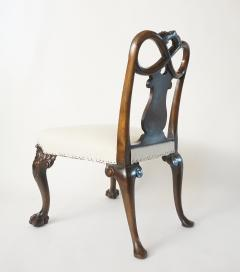 Pair of George II Style Carved Walnut Side Chairs England circa 1880 - 788794