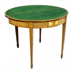 Pair of George III Amboyna and Paint Decorated Games Tables - 1521635