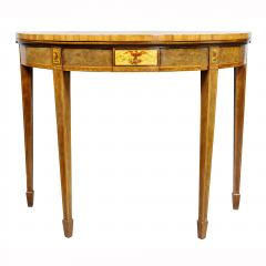 Pair of George III Amboyna and Paint Decorated Games Tables - 1521636