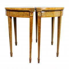Pair of George III Amboyna and Paint Decorated Games Tables - 1521646
